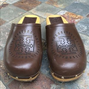 Tory Burch Perforated Leather Clogs